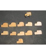 LOT of 11 MINIATURE Unfinished  Wood SCHOOL BUSES NEW - $2.85