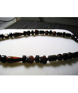A-104    Red Tigereye and Black Jasper Necklace - $22.00