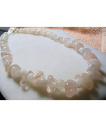 A-102    Rose Quartz and Snow Quartz Necklace - $20.00