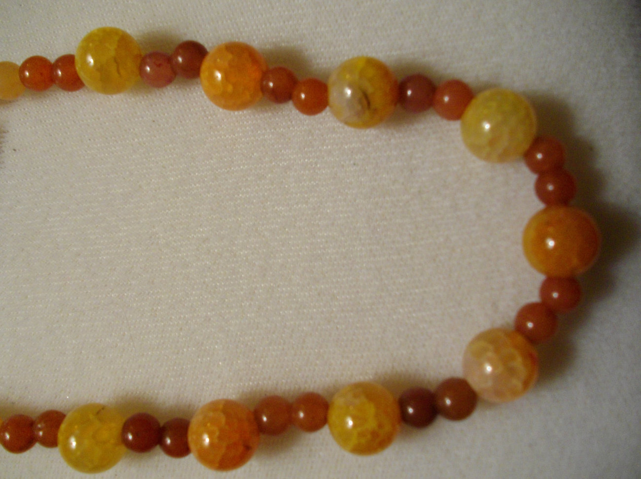 Red Adventurine And Mandarin Dragon Vein Agate Necklace Set