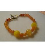 Red Adventurine And Mandarin Dragon Vein Agate Bracelet - $9.00