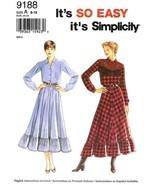 Simplicity 9188 Charming Country Western Dress Yoke Pattern - Sz 10 CUT - $6.99