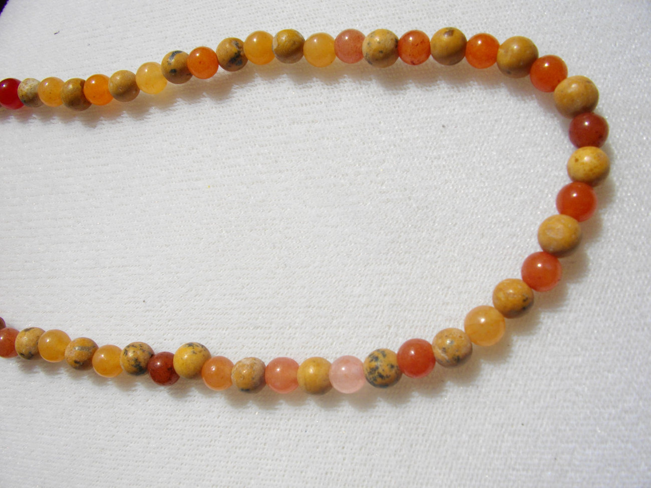 C-26  Red Adventurine and Harvest Stone Necklace