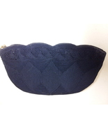 Elegant Vintage 1940's Midnight Blue Corde Clutch Purse - $24.99