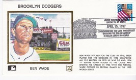BROOKLYN DODGERS BEN WADE JACKIE ROBINSON STADIUM BROOKLYN Y 4/15/97 Z SILK - $2.98