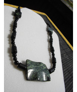 """Forest Delight""  Green Marble, Black Jasper And Black Roun - $28.00"