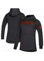 NEW Adidas Game Mode Nebraska Cornhuskers Huskers Black Hoodie Sweatshirt 4XL - $29.58