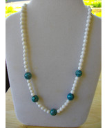 M-5  White Mountain Jade and Blue Howlite Turquoise Beads - $20.00