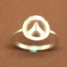 Handmade 925 Sterling Silver Overwatch New badge Ring for Geek PC Video ... - $42.00