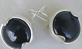 Black with silver earrings - $25.00