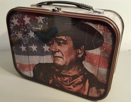JOHN WAYNE -- The Duke Patriotic Flag -- Large Tin Lunch Box Tote - New ... - $14.36