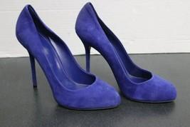Women's Purple/Violet Blue Suede Sergio Rossi Stilleto Pumps (39) Heels Italy image 1