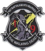 USMC 1st Battalion 9th Marines The Walking Dead Patch NEW!!! - $11.87