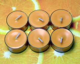 Fresh Squeezed Oranges PURE SOY Tea Lights (Set of 6) - $4.50