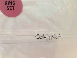 "Calvin Klein Home White"" 4pc King Sheet Set 320TH Bnip - $112.85"