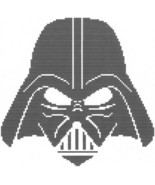 Darth Vader Crochet Graph Afghan Pattern - $5.00