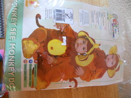 NIP RUBIES EZ ON Rompers Infant Monkey Costume SZ 6-12 months CUTE - $15.76