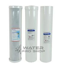 """Big Blue Water Filters-Sediment/UDF/Carbon Block 20"""" x 4.5"""" - $83.10"""