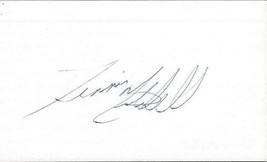 Dennis Mitchell Signed 3x5 Index Card - $19.52