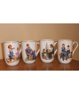 Norman Rockwell cups set of 4 all different - $17.00