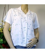 Blouse Jane Ashley Cotton Embroidered Size Small - $14.00