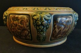 ANTIQUE ROSEVILLE OHIO ART POTTERY FLORENTINE LG BOWLS 1916 ARTS CRAFTS ... - $118.28