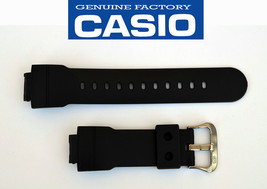 Genuine CASIO WATCH BAND  STRAP AWG-500J AWG-500UAJ BLACK RUBBER - $21.75