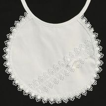Girls Lace Christening Baptism Bib - $12.00