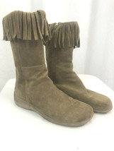 Aerosoles Midcalf Suede Boots with Fringe, Tan, Women's 7.5 B - $36.09