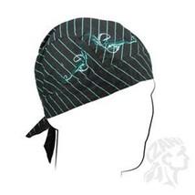 """Skull Cap """"Flydanna Embroidered, Pinstripe Filigree """" Bandanna Cap"""" Free Ship """" - $5.40"""