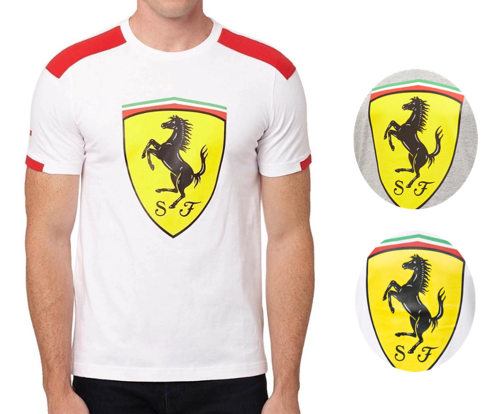 New Puma Ferrari SF Men's Premium Cotton Graphic Big Shield Tee T-Shirt 761984