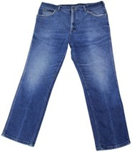 VTG 80s LEE RIDERS Red Stripe JEANS 40 x 30 Poly Blend Denim Union Made ... - $28.04