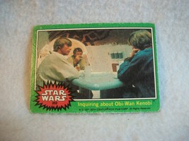 Star Wars Series 4 (Green) Topps 1977 Trading Card # 202 Inquiring About Obi-Wan - $1.49