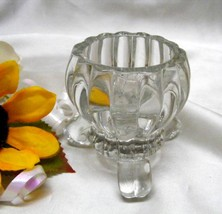 1214a Antique Jeannette Clear Glass National Candleholder - $6.50