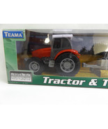 Teama DIECAST Farm Tractor and Trailer 1:32 Red White Grey - $24.18