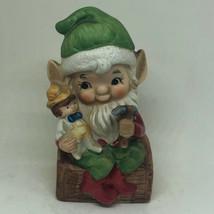 "Homco Christmas Santa's Elve Gnome Toy Maker 54C6 4.75"" - $11.00"