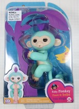 AUTHENTIC WowWee FINGERLINGS Teal ZOE Interactive Baby Pet Monkey FINGER... - $24.73