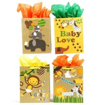 10 1/2W x 13H x 5 1/2G Large Baby Safari On Matte With Poly Grosgrain Ri... - $215.29
