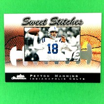 Peyton Manning 2003 Fleer Showcase Sweet Stitches Insert Card #7 NFL Colts - $2.92
