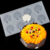 8 Hole Flowers Chocolate Plug-in Silicone Mold Cake Side Insert Card Dec... - ₨677.58 INR
