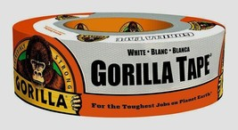 NEW Gorilla Duct Tape 1.88 in  x 30 yd White UV & Moisture Resistant 602... - $17.99