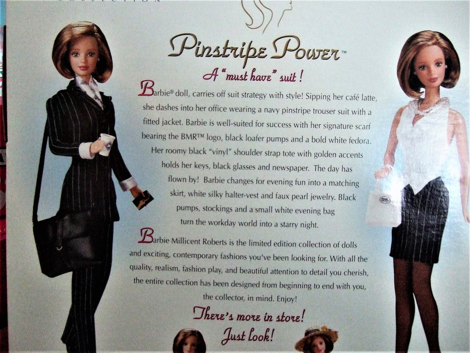 Barbie Doll - Barbie Millicent Roberts Pinstripe Power Doll Limited Edition