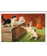 CAT on box and DOG by Sophie Sperlich Germany RARE 1000 copy Russia Post... - €2,36 EUR