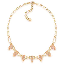 CAROLEE Mimosa Frontal Stone Necklace Gold Tone Crystal Collar Necklace NWT - $24.62