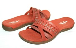 ❤️MERRELL Air-Cushion District Kempse Redwood Leather Slide Sandal 7 M N... - $56.04