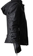 Mission Impossible Ghost Protocol Tom Cruise Black Hooded Genuine Leather Jacket image 2