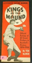 1944 King's Of The Mound A Pitcher Rating Manual Ted Oliver - $24.75