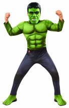 Rubini Marvel Avengers Endgame Hulk Lusso Bambino Costume Halloween 700686 - $31.32