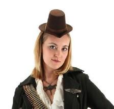SteamPunk Cosplay Goth Little Victorian Brown Top Hat Mini NEW UNWORN - $14.50