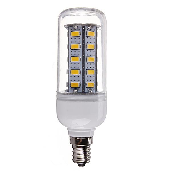 E12 7W 650LM White/Warm White 5730 SMD 36 LED Corn Light Bulb 110V
